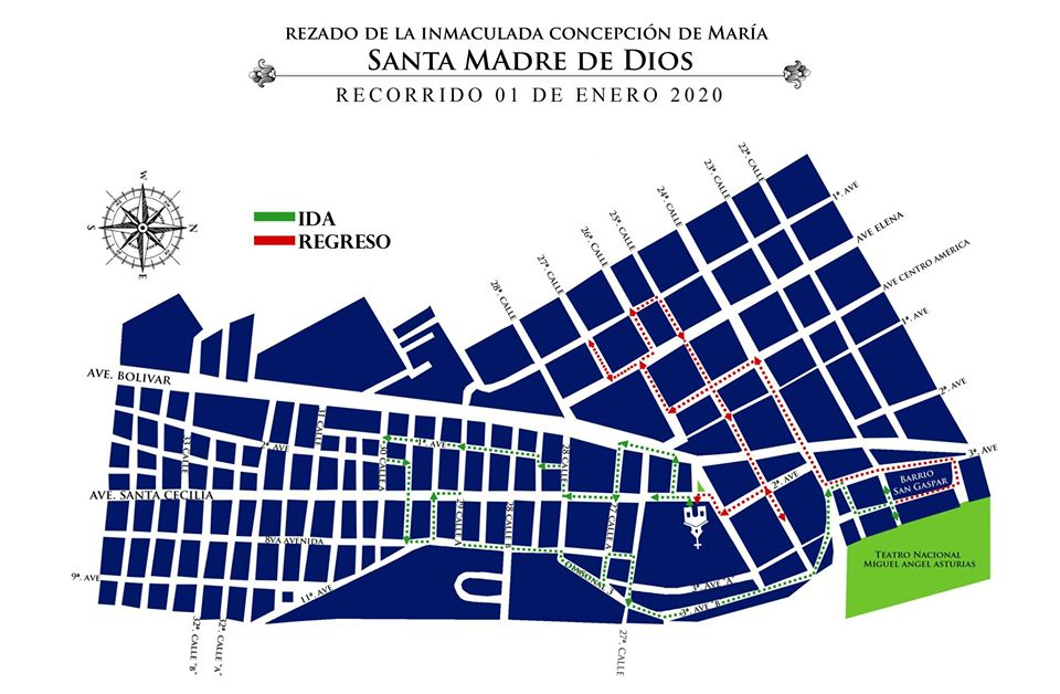 Recorrido Inmaculada Concepcion Don Bosco