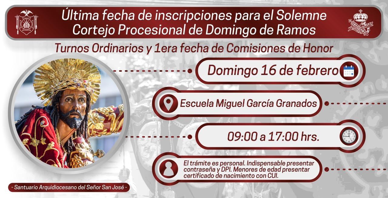 Inscripciones DOmingo de Ramos